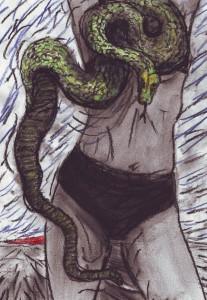 Eva mit Schlange